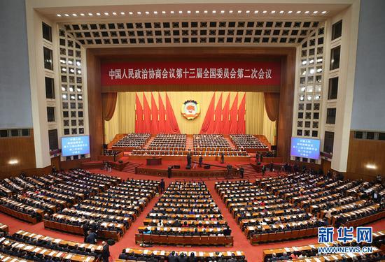 3月3日,中国人民政治协商会议第十三届全国委员会第二次会议在北京人民大会堂开幕。 新华社记者 姚大伟 摄